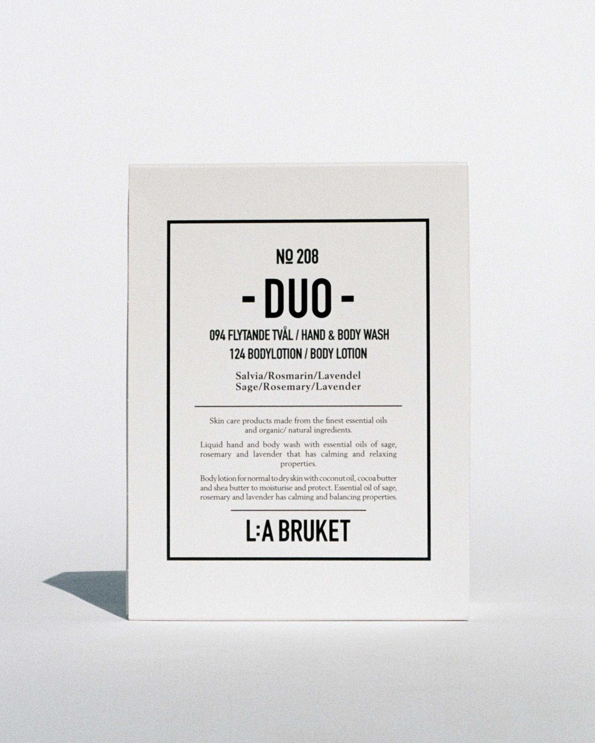 Duo kit hand & body wash-body lotion