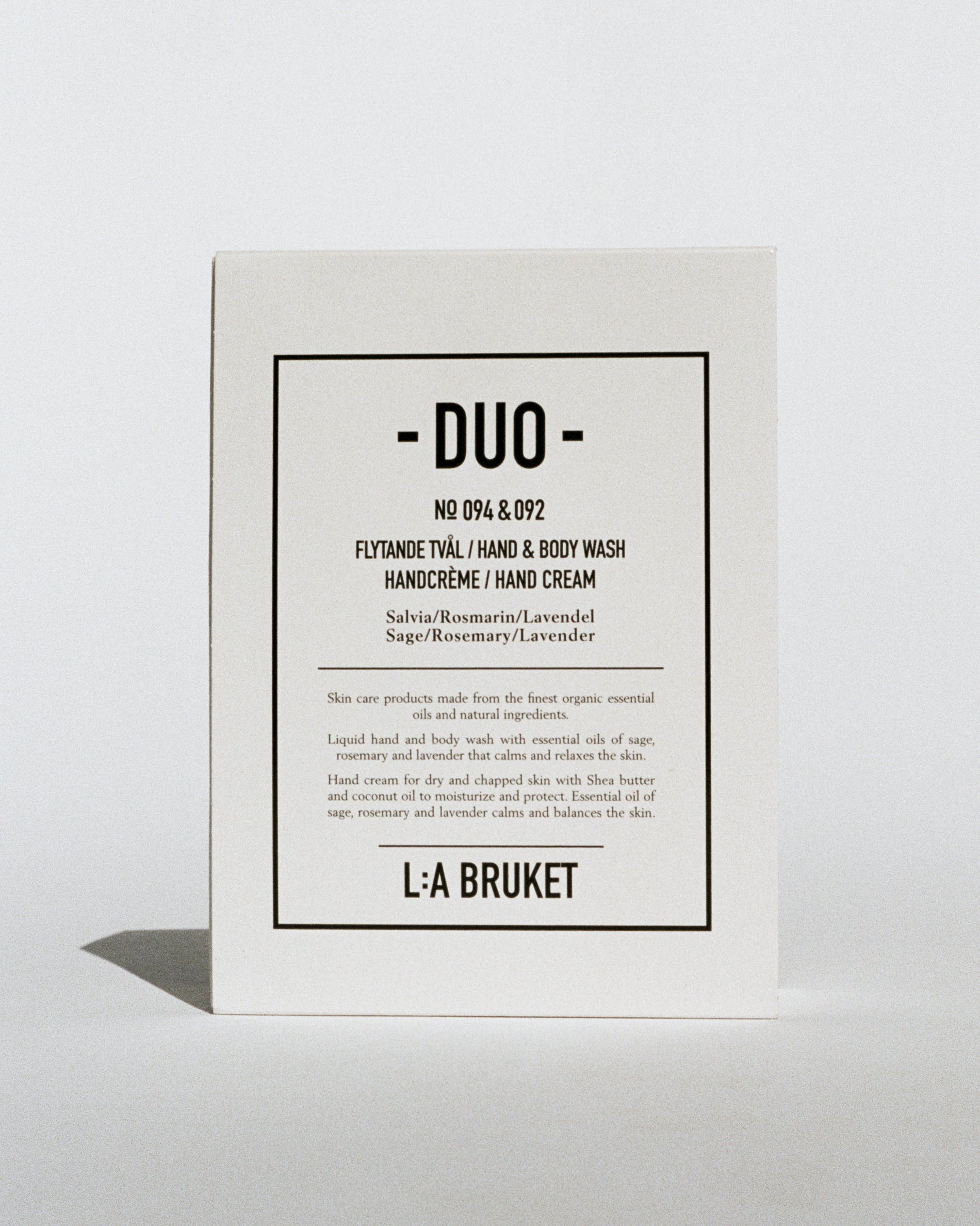Duo kit hand & body wash-hand cream